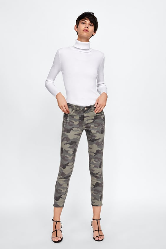 Z1975 Camouflage Jeans  View All Jeans Woman by Zara