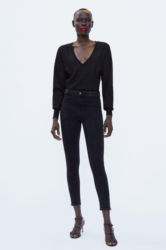 0252e3d11b Shoptagr | Z1975 Skinny Jeans With Faux Leather Trim Dress Timewoman ...