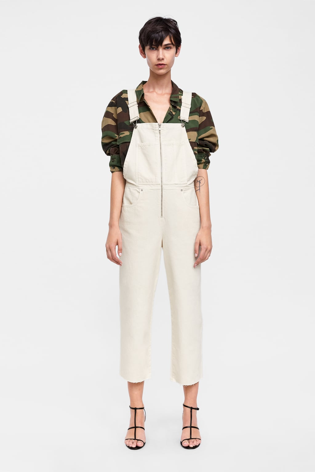 Zw Premium Denim Dungaree  Jumpsuitswoman by Zara
