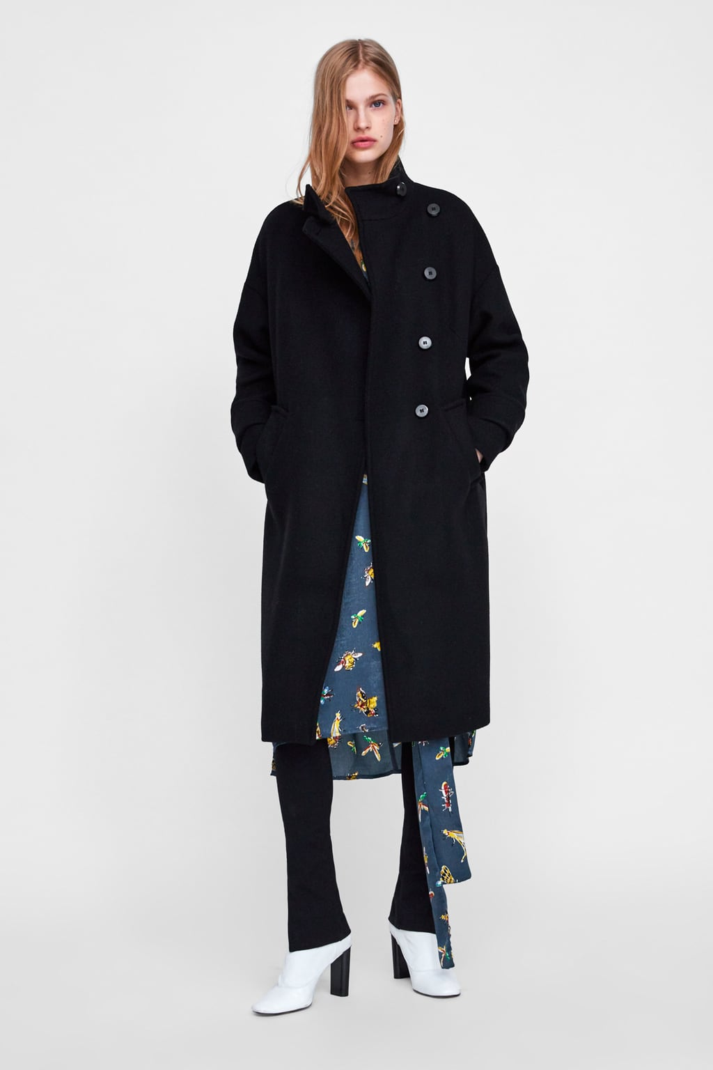 Buttoned Double  Breasted Coatwoman Best Seller by Zara