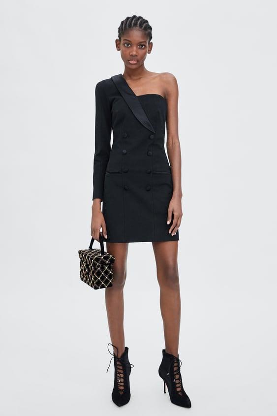 3852988f Shoptagr | Shawl Collar Dress by Zara