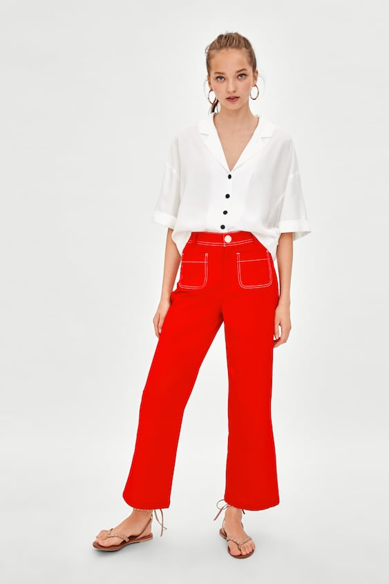 Short Pleated Shirt View All Shirts by Zara