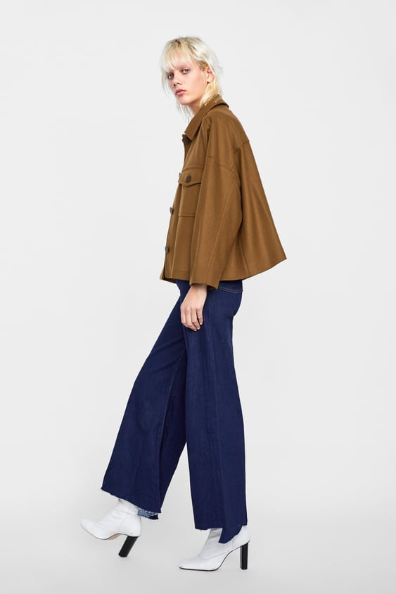 Short Three  Quarter Length Jacket With Pocketsstarting From 50 Percents Off Woman Sale by Zara