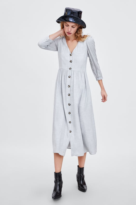 Buttoned Dress View All Dresses Woman Sale by Zara