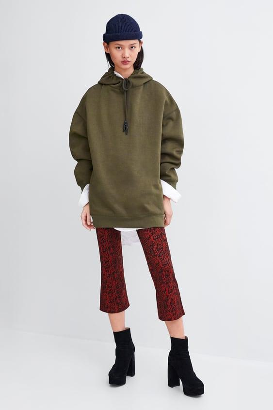 Basic Oversized Hoodie Sweatshirtswoman Sale by Zara