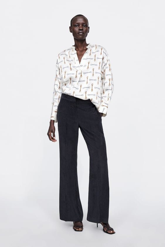 Chain Print Blouse  From 60 Percents Off Woman Sale by Zara