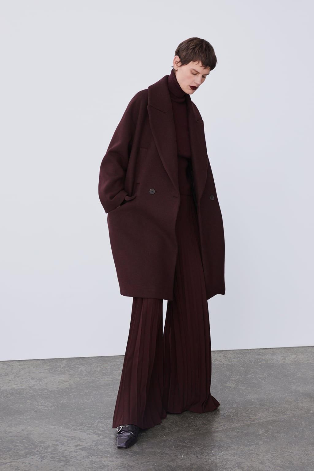 Double Breasted Coat With Pockets New Inwoman by Zara