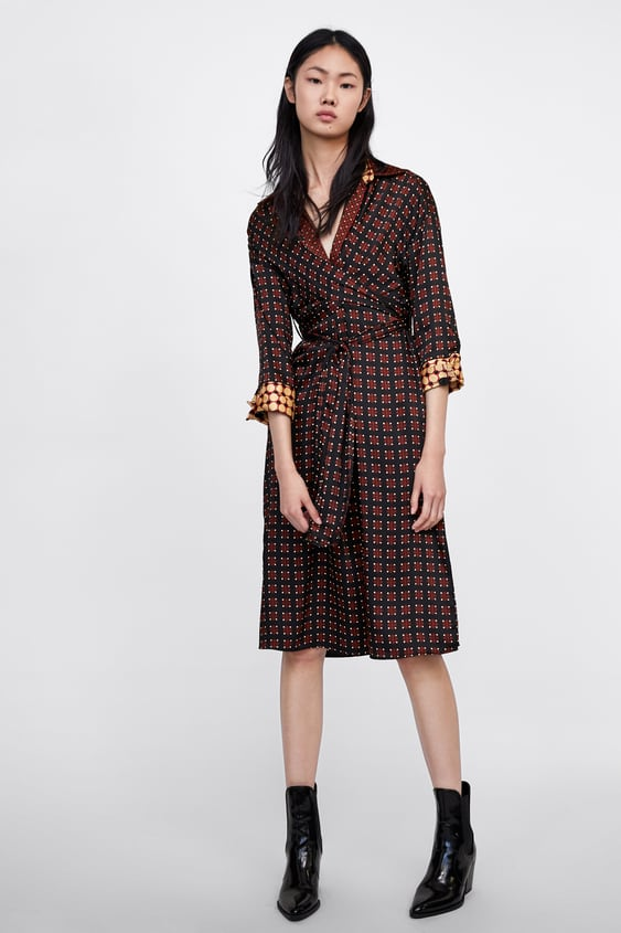 Contrasting Geometric Print Dress  Coord Sets Woman Sale by Zara