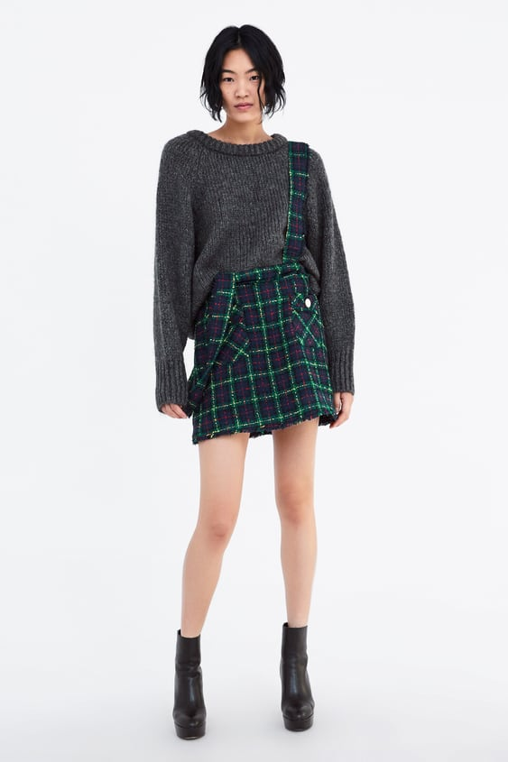 Saia Pichi De Tweed  Ver Tudo Saias Mulher by Zara