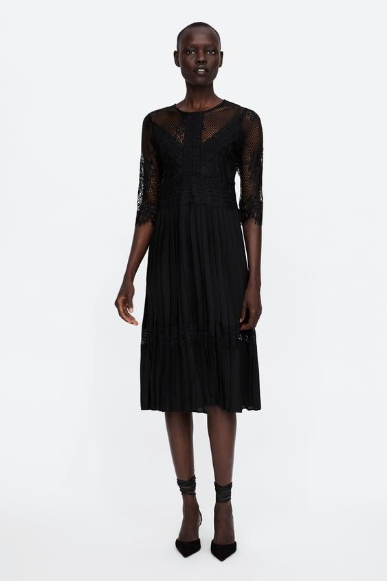 Kombinirana Plisirana Haljina Pregledajte Sve Haljine Woman by Zara