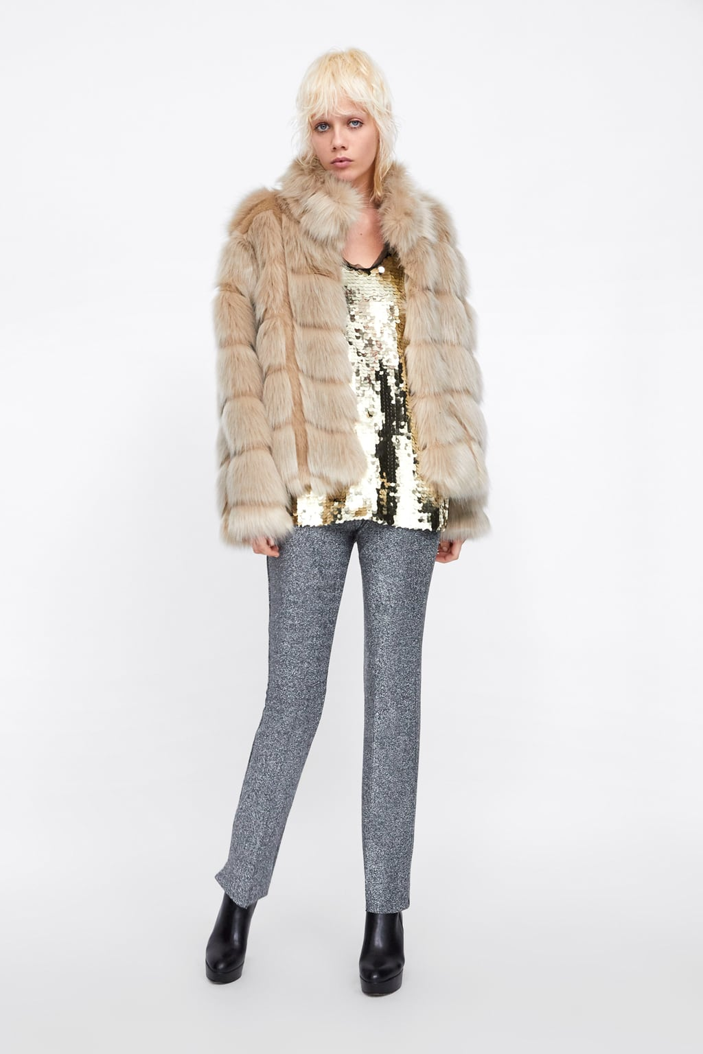 Image 1 of FAUX FURT SHORT COAT from Zara