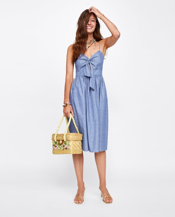 strappy-knotted-dress--mididresses-woman by zara
