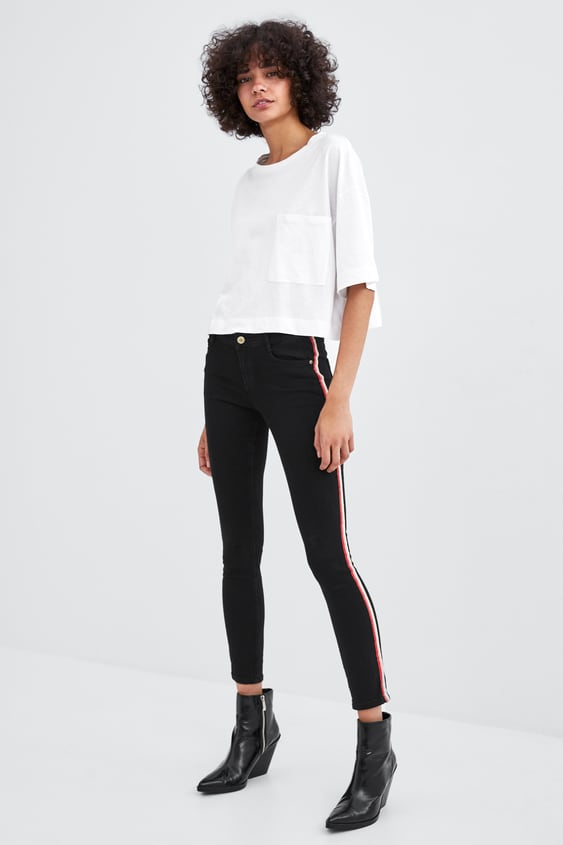 Super Hi  Rise Skinny Sculpt Jeans With Side Taping View All Jeans Woman by Zara