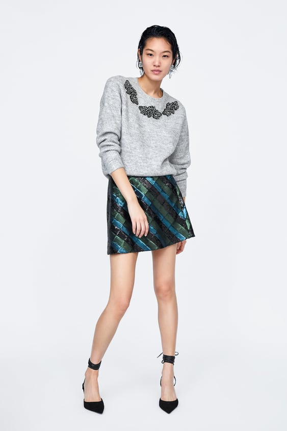Shimmer Bead Sweater  View All Dress Time Woman Corner Shops by Zara