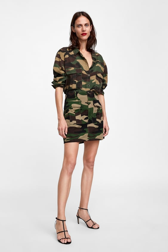 Zw Premium Camouflage Shirt Shirts Starting From 50% Woman Sale by Zara
