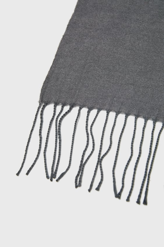 PLAIN SCARF WITH FRINGE - NEW IN-MAN-NEW COLLECTION  edf1b7be8f