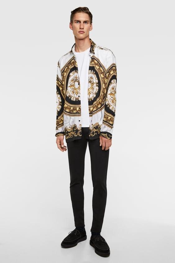 Chemises Imprimees Homme Soldes En Ligne Zara France