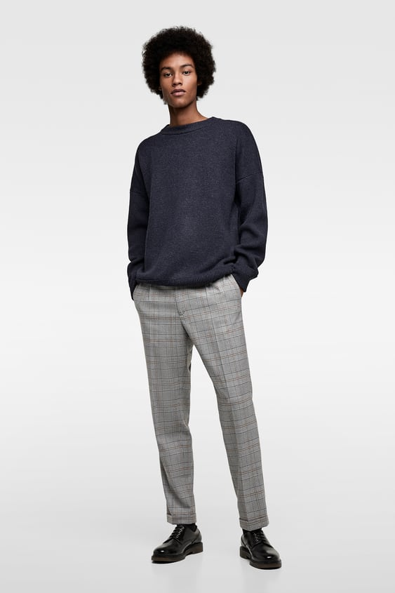 Sweater With Double Rib Trim  View All Knitwear Man by Zara