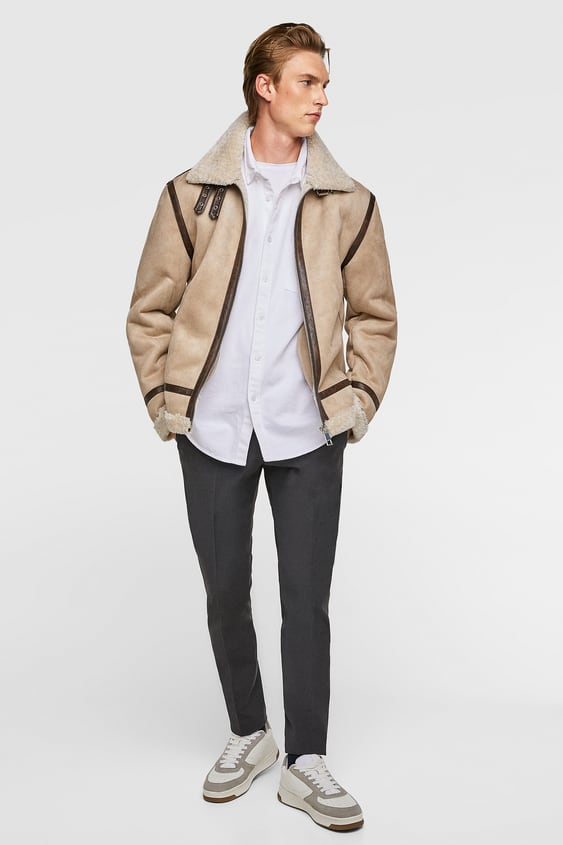 Aviator Jacket  Up To 40 Percents Offman by Zara