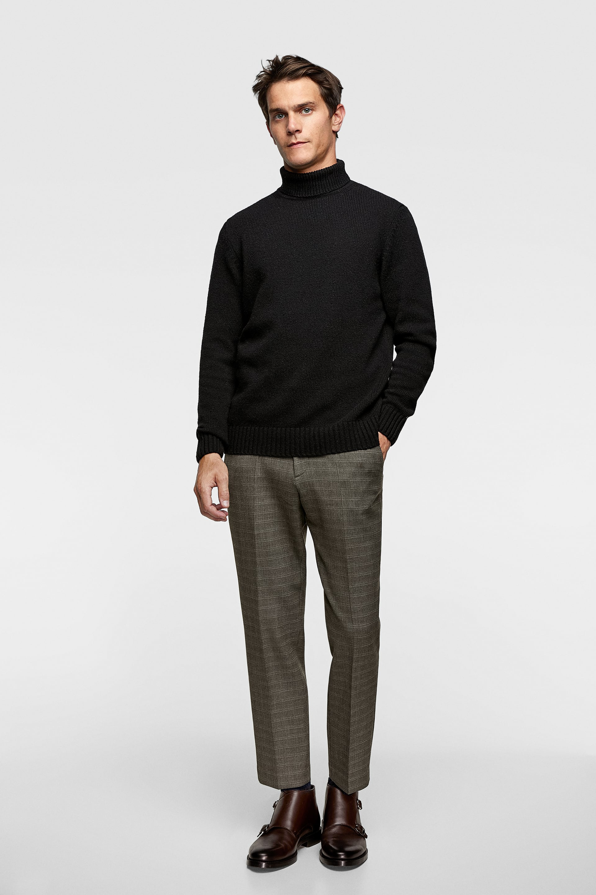 Pantalon À Carreaux  Casual Pantalons Homme by Zara