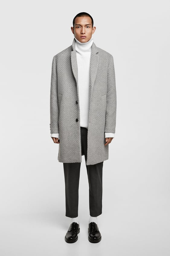 Textured Weave Coat  Up To 40 Percents Offman by Zara