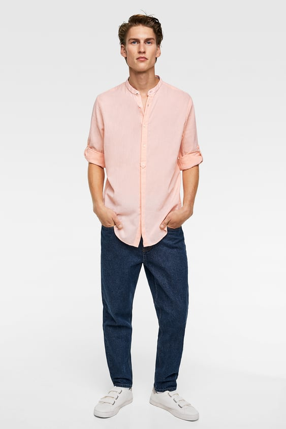 8310d9836f Shoptagr | Shirt With Tabbed Sleeves Topssale Man by Zara