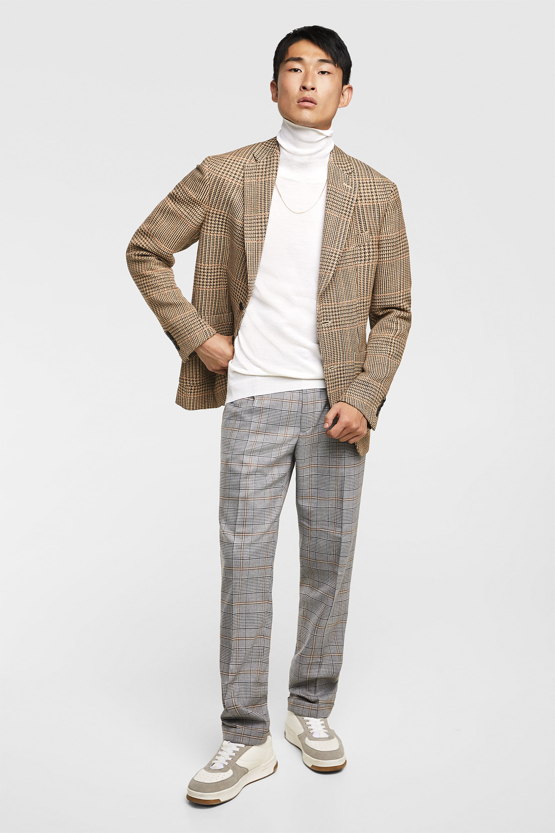 Plaid Pants With Darts Checked Pants Man by Zara