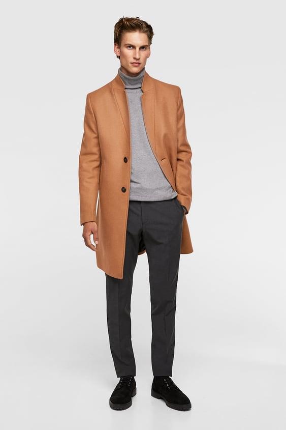 Lapel Collar Coat  View All Coats Man by Zara