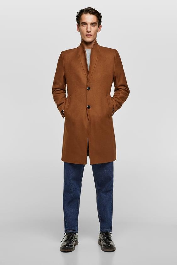 Lapel Coat  View All Outerwear Man Sale by Zara