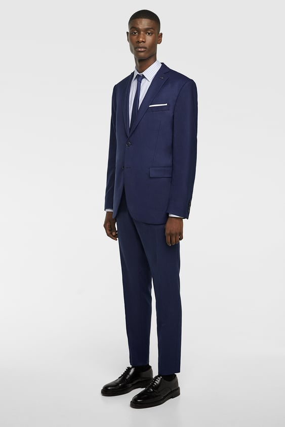 Textured Weave Jacket  Formal Suits Man by Zara