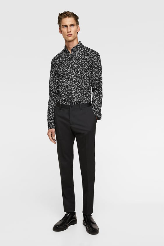 Powerstretch Print Shirt  Super Slim Fit Shirts Man by Zara