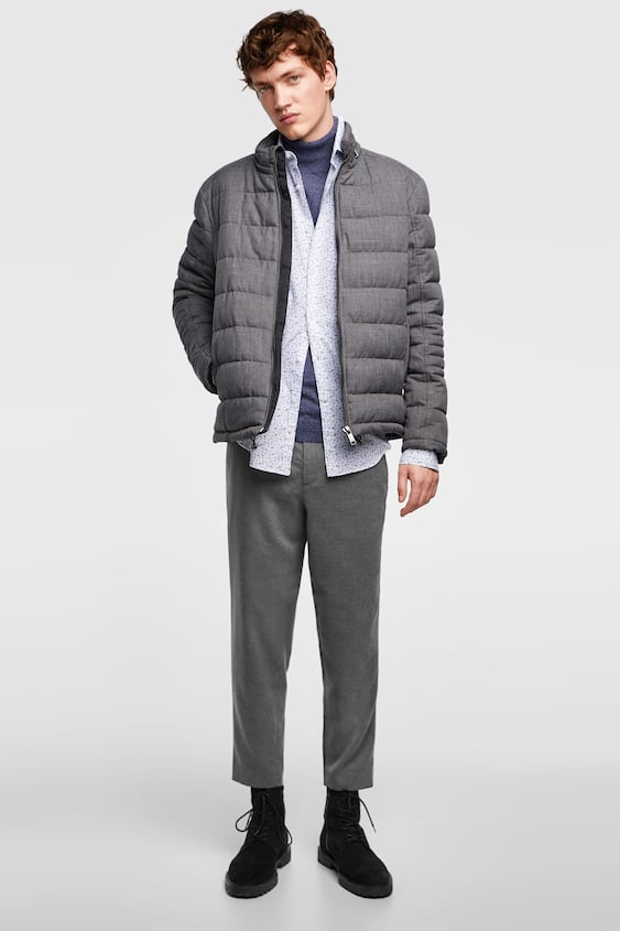 Quilted Heather Jacket Puffers Jackets Man Sale Zara Canada