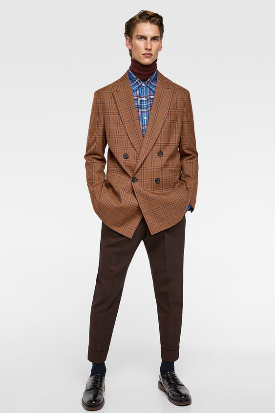 Mens new in clothes new collection online zara indonesia two tone suit trousers stopboris Images