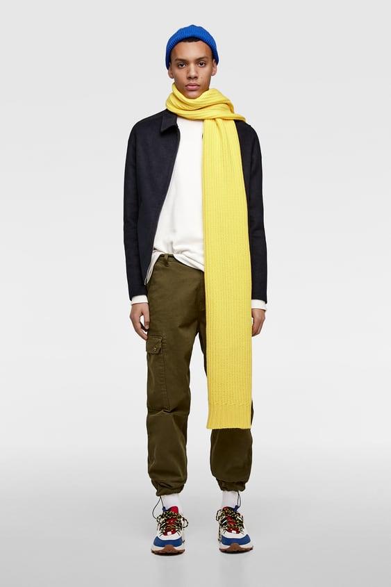 Wool  Effect Jacket Collection Street Man Corner Shops by Zara