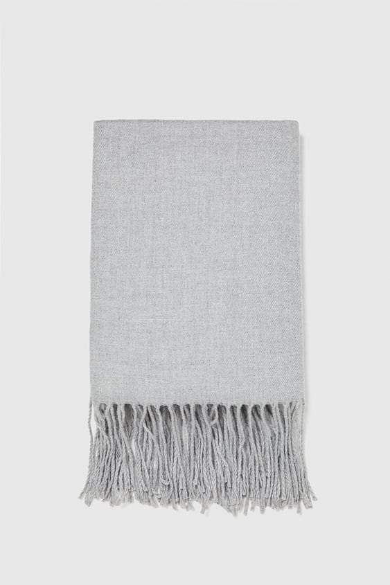 PLAIN SCARF WITH FRINGING - ACCESSORIES-PROMOTIONS-MAN  fe185e1bb9