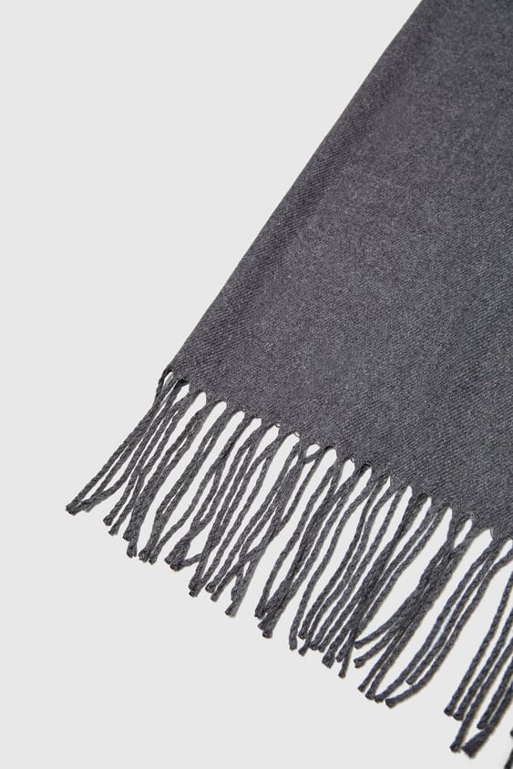 PLAIN SCARF WITH FRINGING - ACCESSORIES-SALE-MAN  cf35b8f862