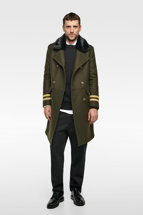 Trimmed Coat  View All Outerwear Man by Zara