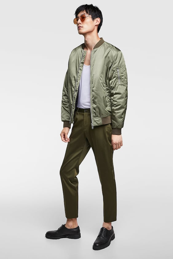 Padded Bomber  Up To 40 Percents Offman by Zara