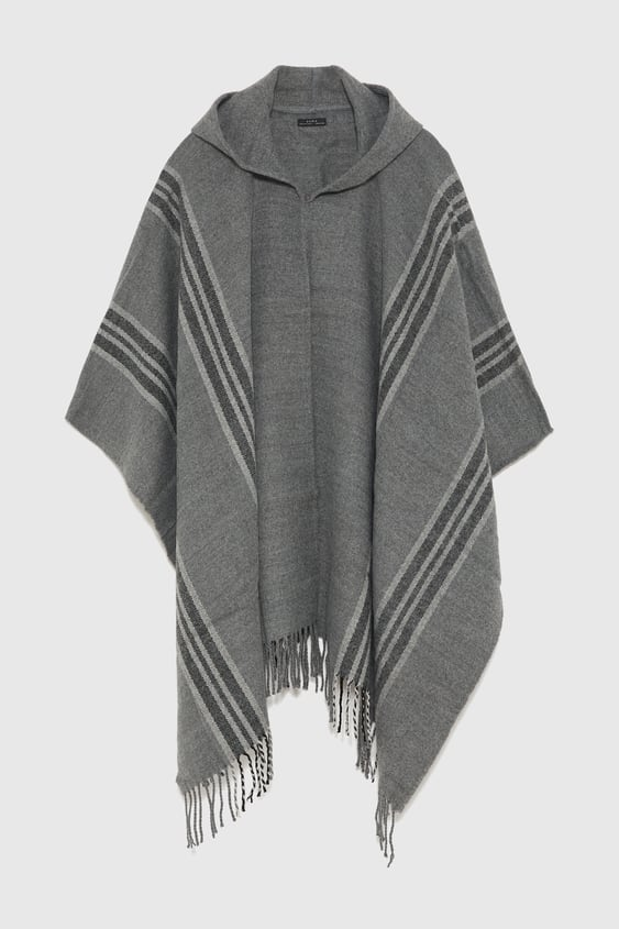 57289314767 Fringed Poncho Scarves Accessories Man by Zara