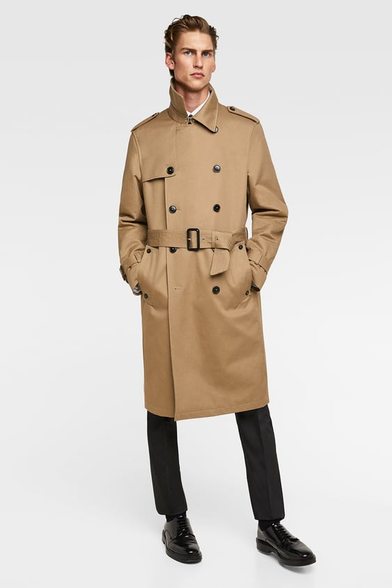 Double  Breasted Water Repellent Trench Coatup To 40 Percents Off Man by Zara