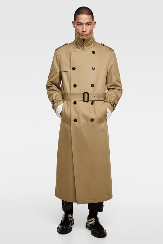 Double  Breasted Trench Coat With Studs View All Coats Man by Zara