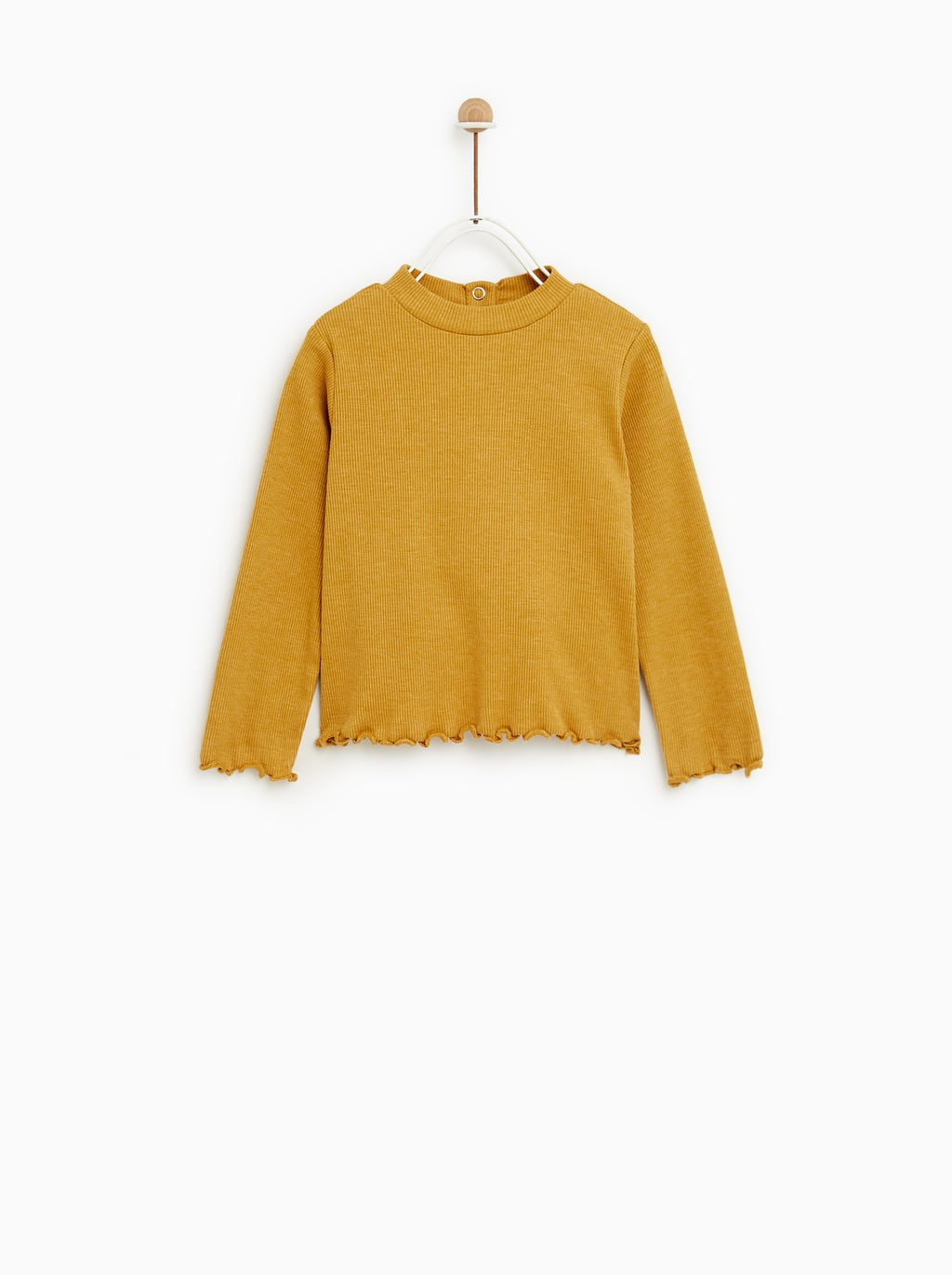 Image 3 of RUFFLY MOCK NECK TOP from Zara