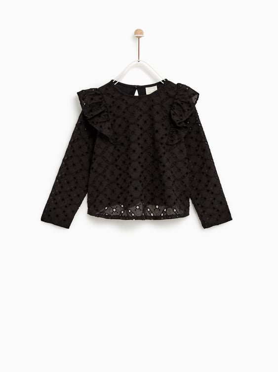 Swiss Embroidery T  Shirt View All T Shirts Girl by Zara
