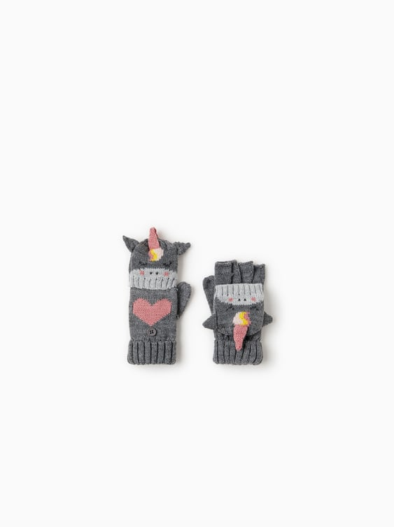 Unicorn Gloves  Hats, Scarves And Gloves Accessories Girl by Zara