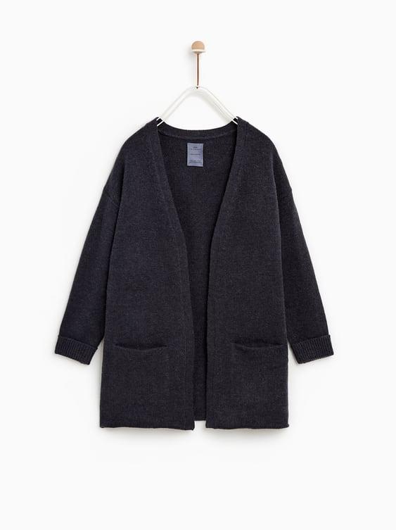 Basic Knit Cardigan Cardigans Knitwear Girl by Zara