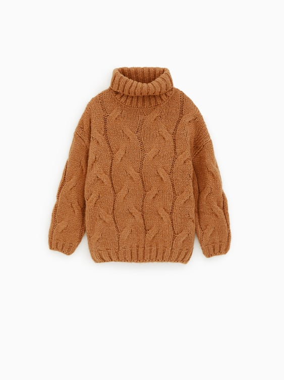 Cable  Knit Sweater Collection Animal Print Girl by Zara