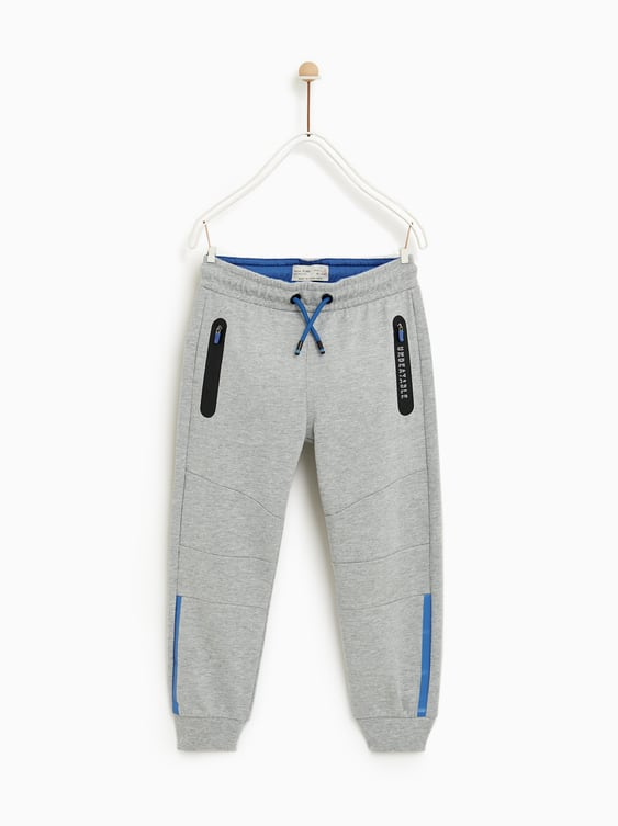 Sporty Plush Jersey Trousers  Sportyshop By Collection Boy by Zara