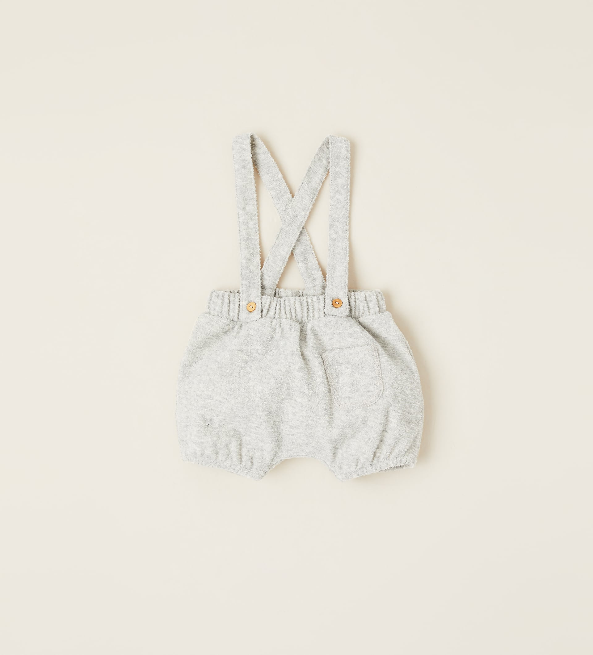 Image 1 of PLUSH DUNGAREE SHORTS WITH BRACES from Zara