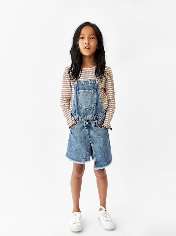 5cfd7d72 Shoptagr | Denim Overall Skirt Skirts And Shorts by Zara