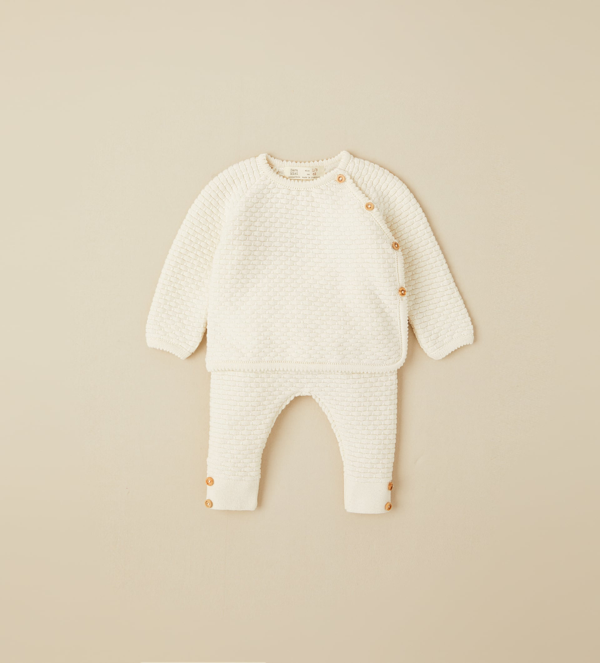 Image 1 of SILK COTTON SWEATER AND PANTS SET from Zara